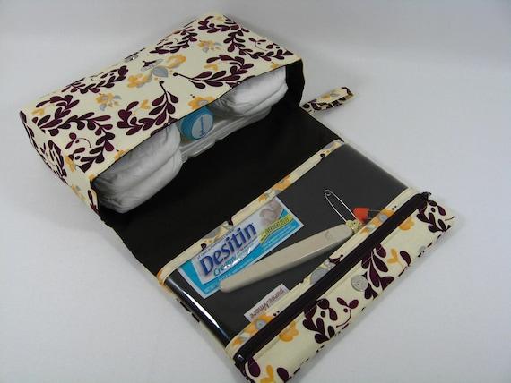 Diaper Clutch with clear zipper pouch-- Georgina Victoria Piccadilly