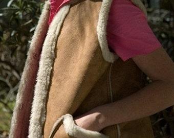 Faux Leather Vest, Western Vest, Size Small, Boho Vest, 1980's Western Vest