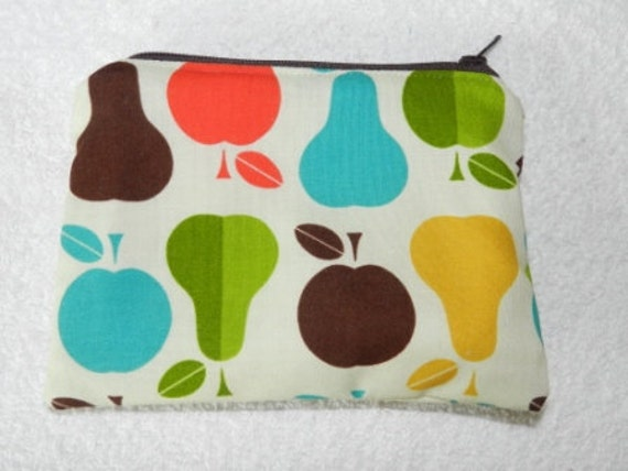Apples and Pears Circles Mama Cloth sized wet bag