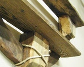 Rustic Wood Wall Shelf -- Two Tier