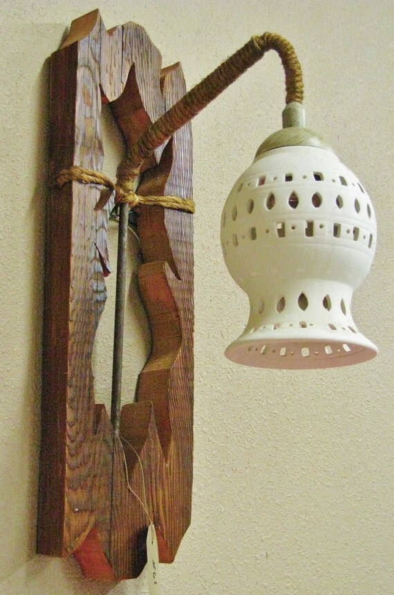 Rustic Wall Light Fixtures , Electric