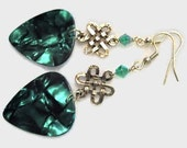 Celtic knot guitar pick earrings