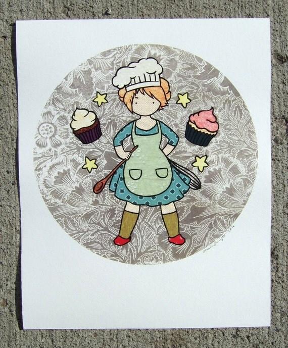 Master Baker color print 8in x 10in