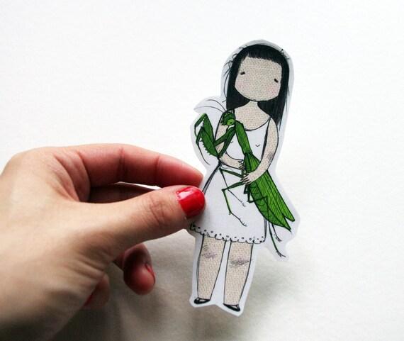 Mantis-Loving Girl Sticker