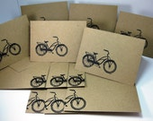 Retro Bicycle Stationery Set - Thank You Cards - Business Thank You Cards - Blank Stationery Set - Eco Friendly Greeting Card - Personalized