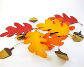 Thanksgiving Table Place Cards Wedding Leaf and Acorn QueenBeeInspirations