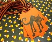 Halloween Tags Set of 6 Scaredy Cat Trick or TreatersQueenBeeInspirations QueenBeeInspirations