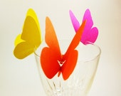 Butterfly Wine Glass Toppers set of 12 Eco Friendly