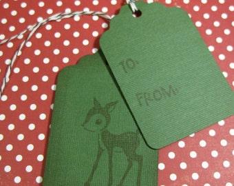 Baby Deer Gift Tags Set of 6 QueenBeeInspirations