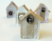 hand stiched handmade recycled paper beach huts