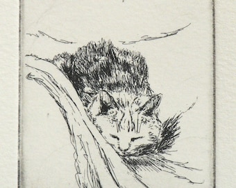 original cat etching