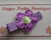 """1"""" Purple Hair Clip-Toddler Hair Clip-Baby Hair Clip-Alligator Clip"""