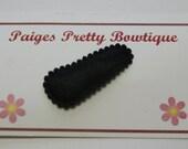 30mm Black Satin Snap Clip-Baby Hair Clip-Toddler Hair Clip-Fine Hair Clip
