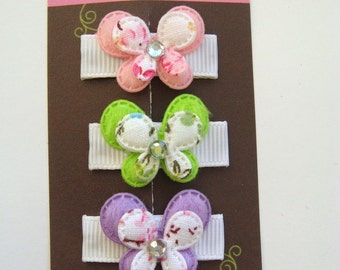 Itty Bitty Butterfly Set-Baby Hair Clip-Toddler Hair Clips-Fine Hair Clips-