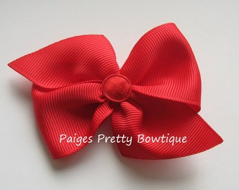 "2.5"" Everyday Red Hair Bow-Baby Hair Bow-Toddler Hair Bow"