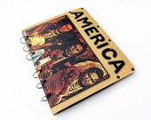 AMERICA record album recyled into a notebook