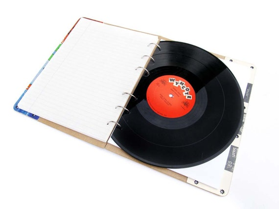 MARY POPPINS recycled record album notebook