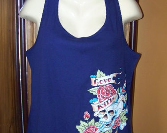 Tank Top, Plus Size 1X Tank Top, Plus Size Tank, Plus Size Tattoo Love Kills Slowly, Plus Size Tattoo, Tattoo, Tattoo T-Shirts, Tattoo tee