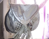 80's Retro All Leather Purse... like new...so soft ...nice gift...snakeskin print