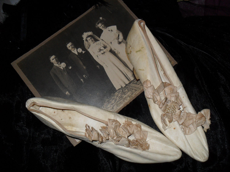 "Antique Wedding Shoes Antique Wedding Shoes"""