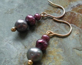 Gold-filled Freshwater Pearl Earrings