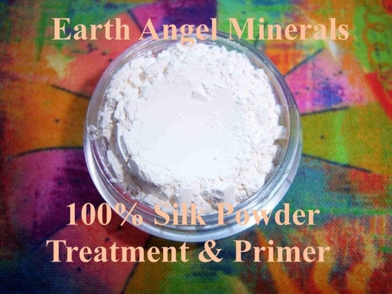 Pure SILK POWDER - Primer/Nourishing Powder - LUXURY in a Jar - Small Jar - Smoothes, Softens Fine Lines & Wrinkles - Gluten Free