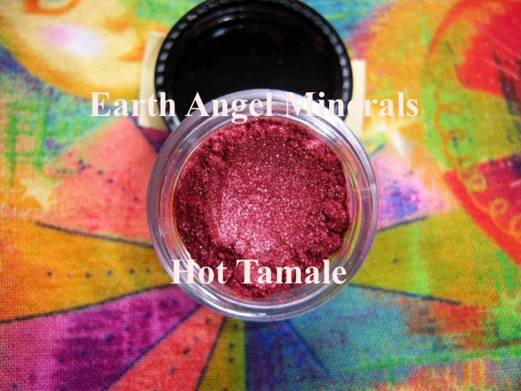 HOT TAMALE by EARTH ANGEL MINERALS - You'll Bring Sexy Back with this Beauty - Dark Red Shimmer - Perfect for Lips, Cheeks and a Hot Sexy Eye Color for those Bold Gals who Love to add a little SPICE and SIZZLE - Brand New Color for 2009