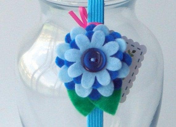 Felty Blossoms Headband - Bluer Than Blue