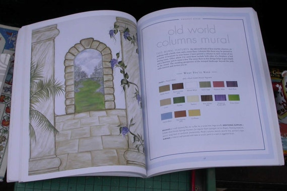 Donna dewberrys quick easy murals arts and craft book for Arts and crafts mural