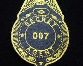 1970s UK James BOND 007 Leatherette Cereal Badge RARE Unused
