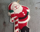 1948-52 Occupied JAPAN Santa With Candy Cane Ornament