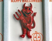RARE 1960s-70s Vintage HALLOWEEN Pin DEVIL Design
