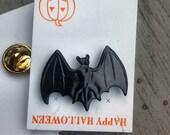 1960s-70s Vintage HALLOWEEN Pin BLACK BAT Design
