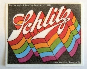 1976 Schlitz Beer Rainbow Patch VINTAGE Rare GAY PRIDE