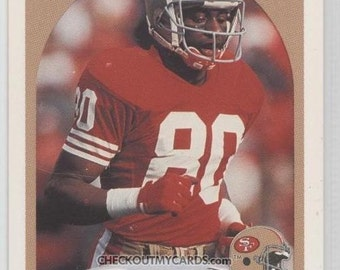1990 Fleer Football Card JERRY RICE first edition HALL OF FAMER