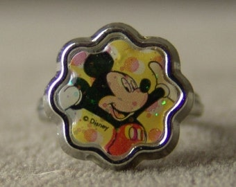 1970s Eight Curve MICKEY MOUSE Disney Land Toy Ring