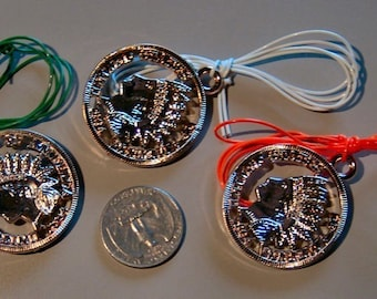 Three 1960s Indian Head Large Cent Toy Necklaces