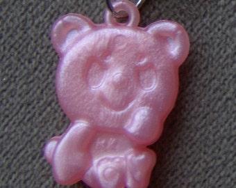 1960s Groovy Gum Machine and Circus Clip Pendant TEDDY BEAR