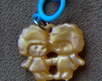 1960s Groovy Gum Machine and Circus Clip Pendant TWINS