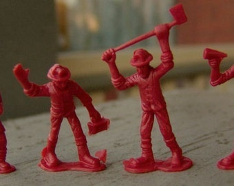 1970s Fireman Set of Six Figures DETAILED