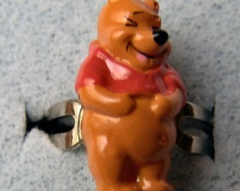 1970's Winnie the Pooh Gum Machine Ring LAUGHING