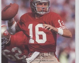 1990 The Official NFL Card of JOE MONTANA hall of famer FOUR Super Bowl Wins