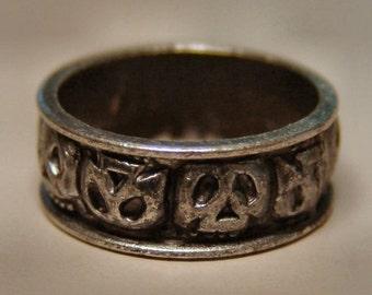 1976 Pirates of Caribbean Disney Land UNUSED Initial Skull Ring