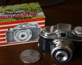 1960s Metal Mini Spy Camera Toy in Original Box by Arrow