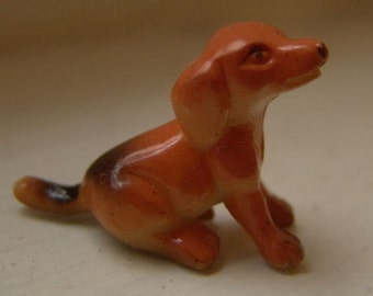 1960s Mini Dog Figurine HAND PAINTED Unknown 1