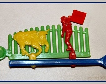 1960's Plastic BULLFIGHTER Action Toy MINT in Package