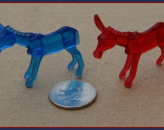Set of Two 1950s Ringling Bros Barnum and Bailey Circus Animal DONKEYS