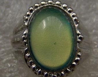 Vintage 1960-70's Fancy Mood Ring 204 Fancy Shield Side