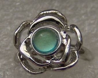 Vintage 1960-70's Fancy Mood Ring 218 Small Flower