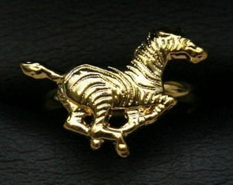 1950s Cole Brothers Circus Gold Ring ZEBRA